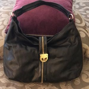 Black hobo style bag.